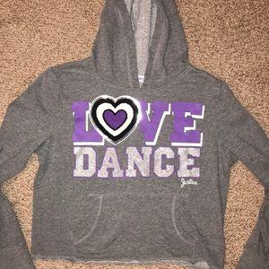 Justice Shirts & Tops - Justice Glitter sequin Hoodie Dance Sweatshirt